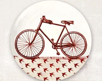 Red bike plate dinnerware