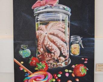 The Kraken - Acrylic painting on canvas