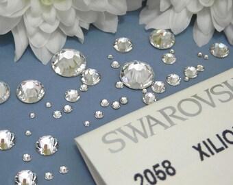 Genuine Swarovski Crystal Rhinestones flat back  - Crystal Clear Sealed Factory Pack SS5 TO SS20  Swarovski Rhinestones(144pcs