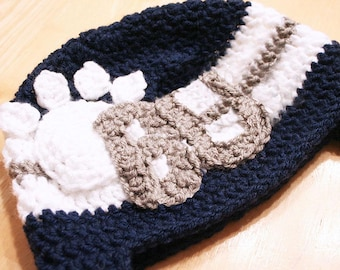 Paw print hat, bulldog hat, lion hat, bulldog hat for babies, Butler University hat, Penn State hat, newborn to 12 month sizes available