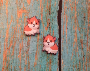 Guinea Pig Handcrafted Plastic Earrings Jewelry Accessories Fashion Novelty Unique Gift Gifts for Her