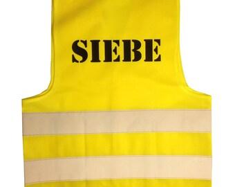 Personalized kids safety vest, fluovest, kids safety vest, reflective safety vest, safe to school, safe on the road, fluor vest