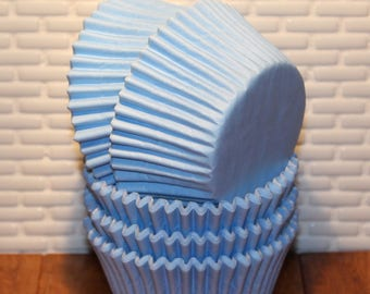 Pastel Blue Designer Heavy Duty Cupcake Liners  (Qty 32) Pastel Blue Baking Cups, Blue Cupcake Liners, Blue Baking Cups, Cupcake Liners