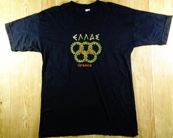 ON SALE! Vintage Olympic GREECE Shirt Rare Large