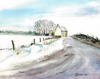 Snowdrifts  lodge moor