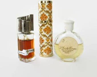 Pre-owned French Perfume Carven Variations, Madame Rochas, L'Air du Temps by Nina Ricci, 1970s-1980s, Priced Individually