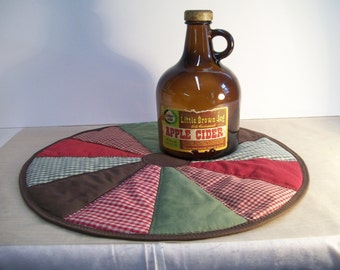 Table Topper, matelassé, cercle, Bure, rustique, Primitive, pays