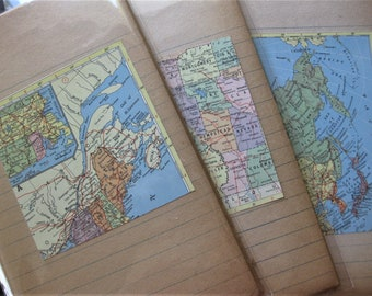 Naturally Aged to Golden Tan, 21 Lined Notebook Papers, Ephemera, Scrapbooking, Collage