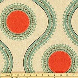 Ikat Fabric Yardage   Premier Prints Susette Byram Laken   Discontinued Home  Decor Fabric For Curtains
