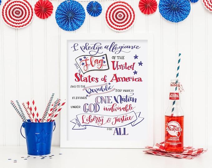 I Pledge Allegiance! Original Handwritten Art Available as a Digital Download!