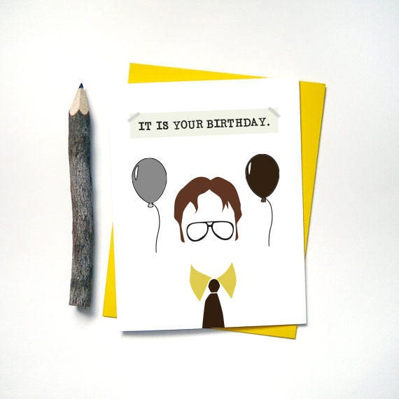 The office it is your birthday card dwight schrute description the office it is your birthday card bookmarktalkfo Gallery