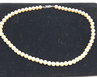 Classic & Beautiful Single Strand of Faux Pearls from Japan
