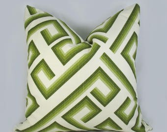 Geo Olive Green - Decorative Pillow Cushion Cover - Accent Pillow - Throw Pillow - Olive, Lime, Green