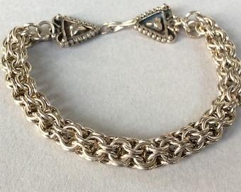 Silver 925 Chain Mail Bracelet