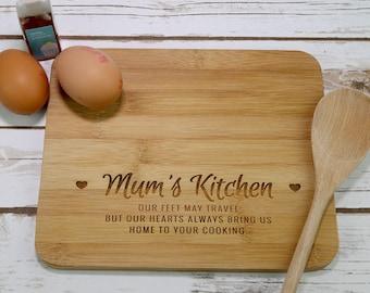 Mums Kitchen Chopping Board - Mum's Chopping Board - Gift for Mum - Mum Gift - Kitchen Chopping Board - Mini Chopping Board