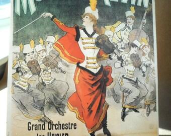 Vintage Theater Poster Prints, French Theatre Cards, Theater Poster Reproduction Prints, French ephemera, Les Dames Hongroises