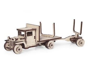 Truck  ZIS-5V WITH DISSOLUTION | Wooden model kit