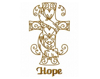 Hope Redwork Machine Embroidery DESIGN NO. 298