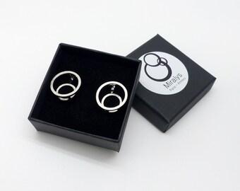 Earrings Gravity, sterling silver