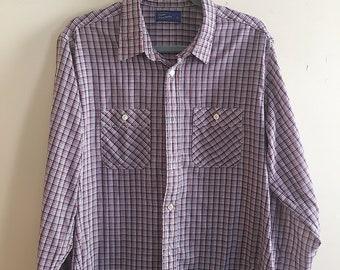 Retro JC Penney Button Up Plaid Shirt