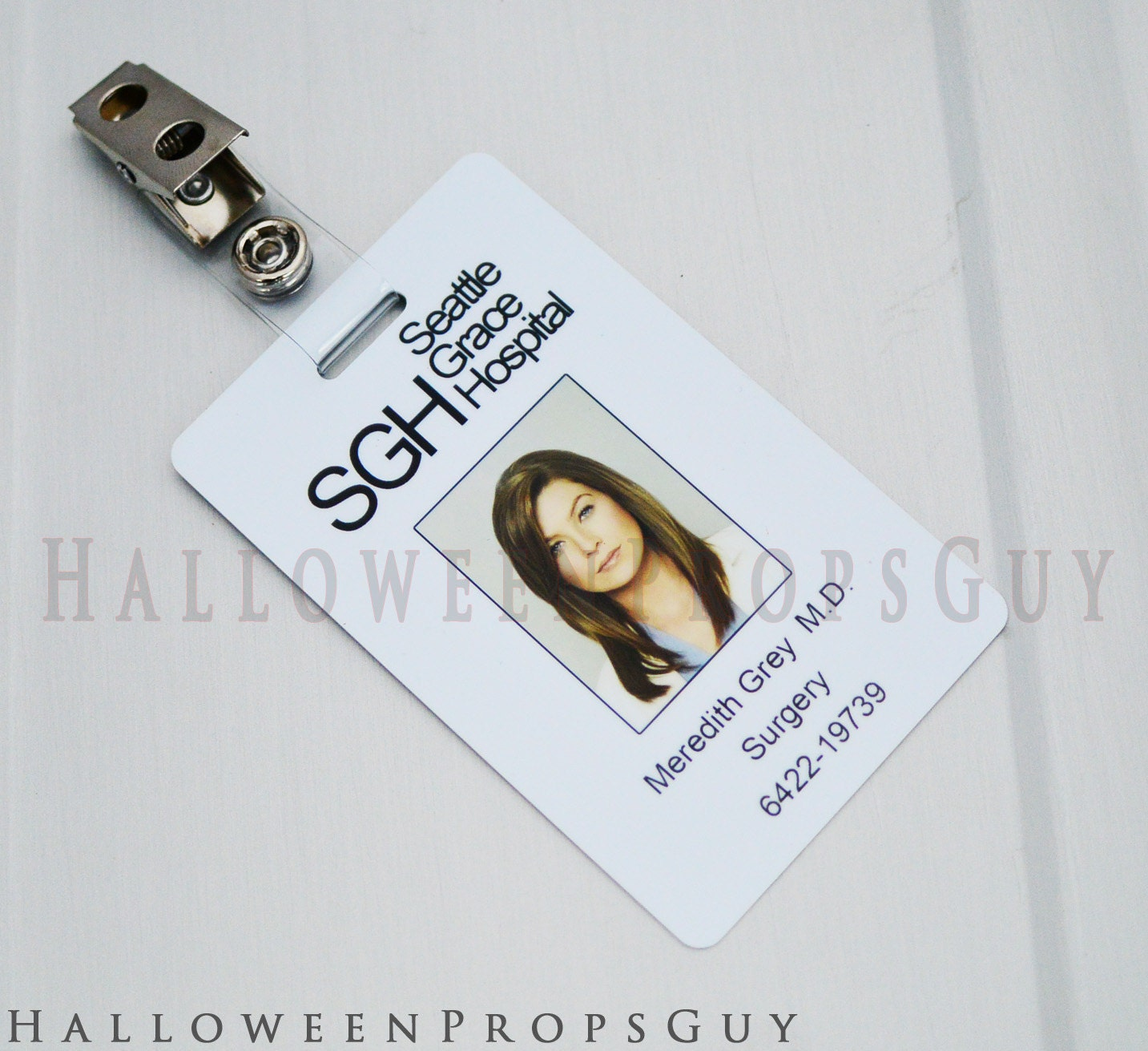 Grey\'s Anatomy Seattle Grace ID Card Replica with Clip