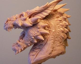 Sculpture buste Concept Dragon