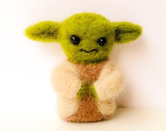 Needle felted Yoda