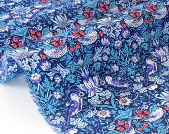20% off fabric Liberty of London Strawberry Thief blue 78x138cm