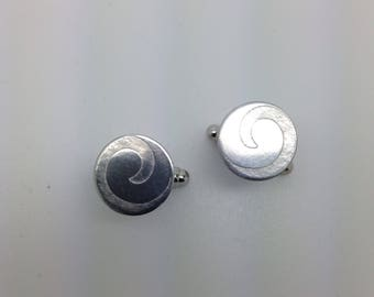 Sterling Silver Wave Cufflinks