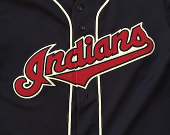 Vintage 90s Cleveland Indians MLB Majestic Baseball Jersey Size - Large * Made In USA
