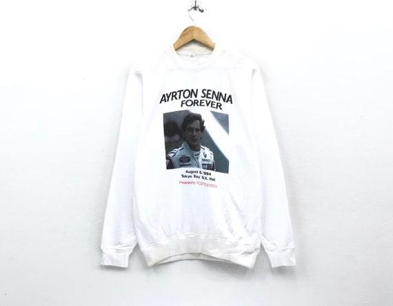 big 1 print player shirts sportswear jumper Senna Ayrton formula sweatshirts formula crewneck pullover streetwear Vintage 1 logo 1994 fFTWYY