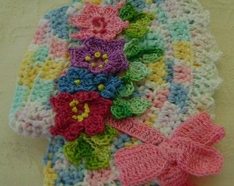 Crocheted Easter Bonnet Pot Holder Made From Vintage Pattern