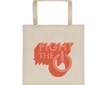 FIGHT THE POWER Tote - Flat Bottom Tote Bag