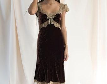 Vintage velvet Betsey Johnson dress