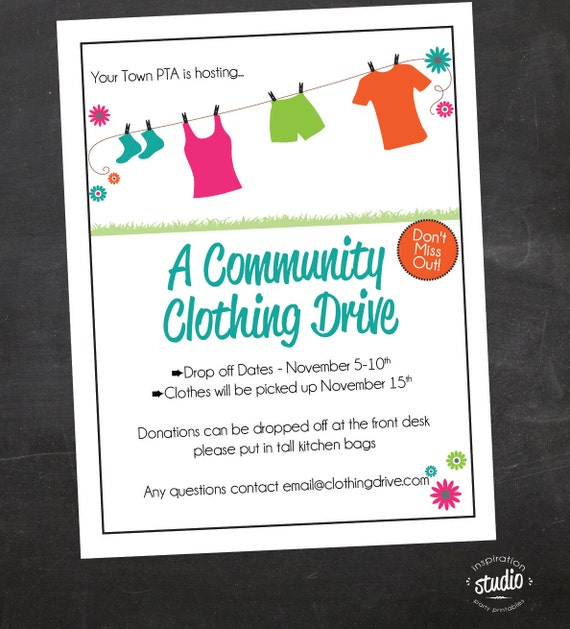 free clothing drive flyer template maths equinetherapies co
