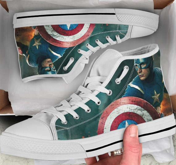 Shoes Tops Shoes Shoes High Captain Men's Women's sneakers Converse Colorful Sneakers America America Tops Looks high like XBPPxOpn