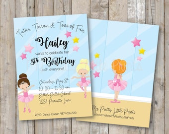 Tutus and Tiaras Invitation