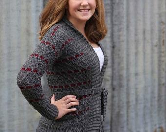 Crochet cardigan pattern, Women,crochet sweater pattern, knit look cardigan pattern, Digital pattern, crochet cardigan, Ladies
