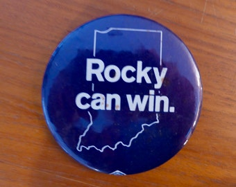 Unusual Rockefeller Campaign Button from 1968 Indiana Republican Primary