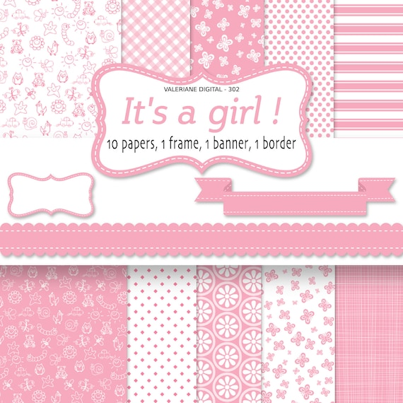 Baby Girl Wallpaper: Baby Girl Digital Paper Pink Baby Backgrounds For
