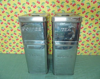 Vintage Chrome Canisters - Set Of 4 - Garnerware