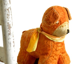 vintage toy dog, antique stuffed dog, collectible toy, stuffed animal