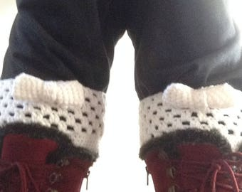 Lacy Bow Boot Cuffs