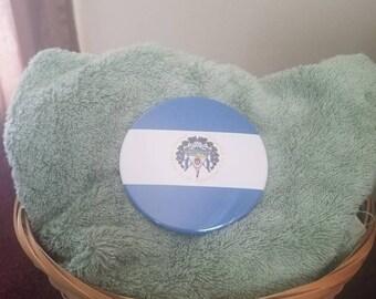 3.5 Inch El Salvador Flag Button