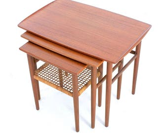 Mid Century Tables Nesting Danish.FREE SHIPPING