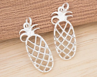 2 of 925 Sterling Silver Pineapple Charms 10x21 mm.  :th2457