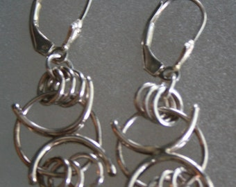 Celtic Earrings Sterling Silver