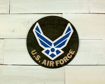 US Air Force Seal Retirement Gift Transfer Gift Wall Decor Home Decor Military Veteran Air Force Logo Gifts for Him Gifts for Her
