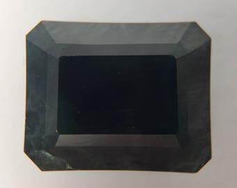 5.47ct Natural Midnight Blue Emerald Cut Sapphire