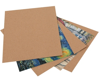 """50 Chipboard Pads, 8-1/2"""" x 11"""" Kraft paper pad rigid for DIY, strengthen envelopes and more"""